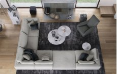Perry 2 Arm Corner Sofa w Ottoman Product Image