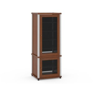 Salamander DesignsSynergy Solution 603, Quad-Width AV Cabinet, Cherry with Aluminum Posts
