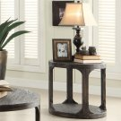Bellagio - Round Side Table - Weathered Worn Black Finish Product Image