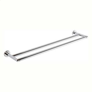 "Polished Chrome 24"" Double Towel Bar"