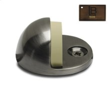 Dome Door Stop, Brushed Antique Brass
