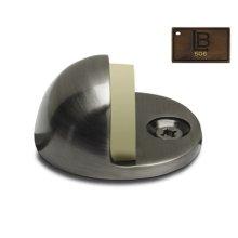Dome Door Stop, Brushed Antique Brass