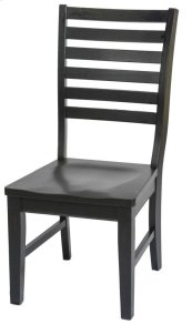 St. Michael Slat Back Side Chair w/ Wooden Seat