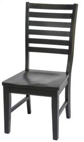 St. Michael Slat Back Side Chair w/ Wooden Seat