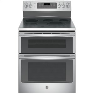 "GE ProfileGE PROFILEGE Profile(TM) Series 30"" Free-Standing Double Oven Convection Range"