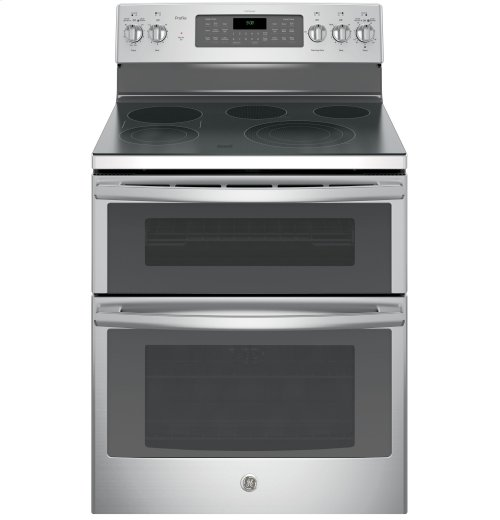 """GE Profile™ Series 30"""" Free-Standing Double Oven Convection Range"""