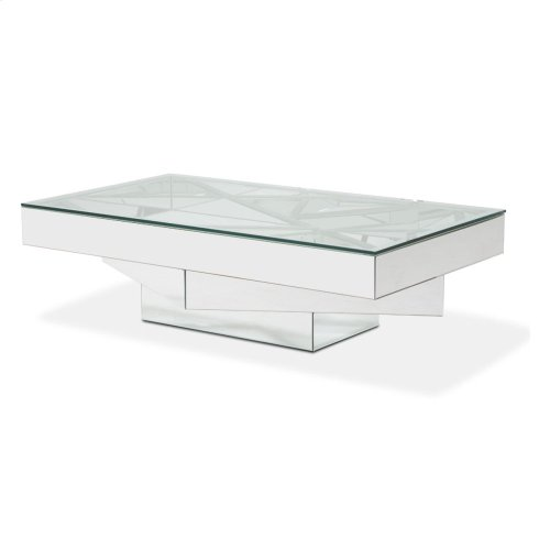 Rect. Cocktail Table W/ Glass Top