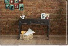 Sofa Table w/ 3 Drawers - Black finish