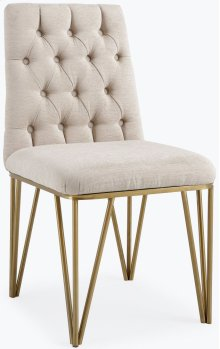 Lexi Cream Textured Velvet Dining Chair (Set of 2)