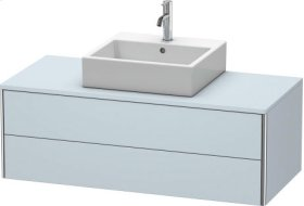 Vanity Unit For Console Wall-mounted, Light Blue Satin Matt Lacquer
