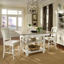 Coventry Two Tone - Counter Height Dining Table - Weathered Driftwood/dover White Finish