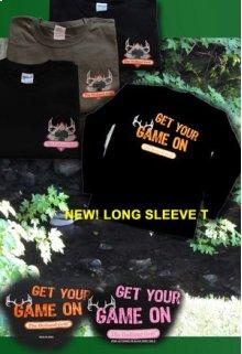 Black/Orange XL Game On Tee Shirt