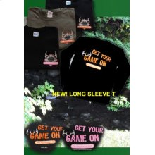 Black/Orange XL Game On Tee Shirt