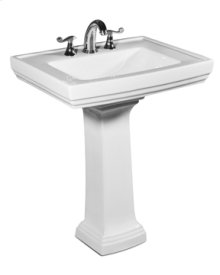 Presley Pedestal Lavatory in White