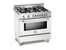 White 36 Six-Burner Electric Self-Clean Oven