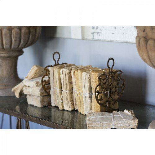 Set of Crest Urn and Shield Bookends