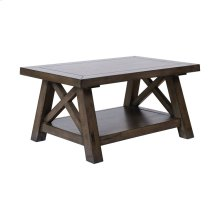 Manteo Farmhouse Grey Brown Stain Coffee Table