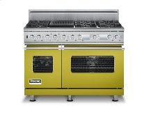 "48"" Custom Sealed Burner Dual Fuel Electronic Control Range, Propane Gas"