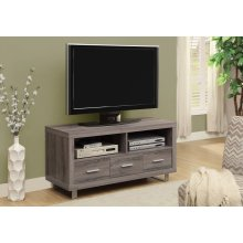 """TV STAND - 48"""" L / DARK TAUPE WITH 3 DRAWERS"""