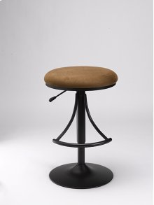 Venus Backless Stool Brown With Black Base