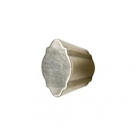 Quatrafoil Cabinet Knob - CK10011 White Bronze Medium