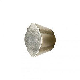 Quatrafoil Cabinet Knob - CK10011 White Bronze Brushed