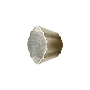 Quatrafoil Cabinet Knob - CK10011 White Bronze Light