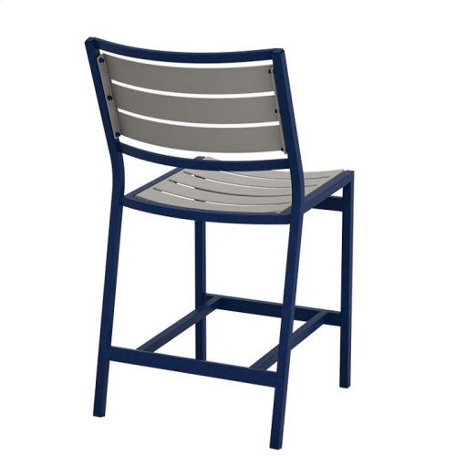 Cabana Club Armless Aluminum Slat Counter Height Stool