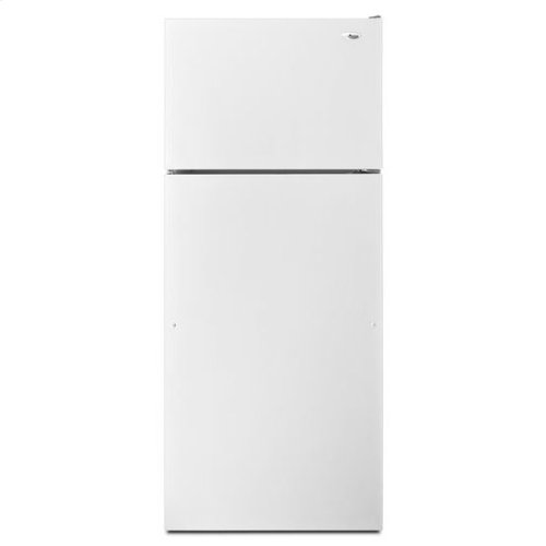 18 cu. ft. Top-Freezer Refrigerator with Integrated Handles - white