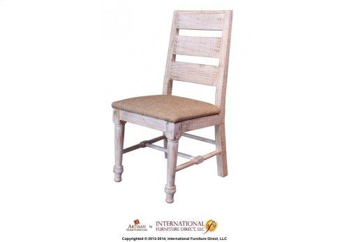 White Chair w/Sand Fabric