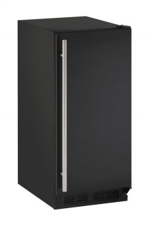 """1000 Series 15"""" Clear Ice Machine With Black Solid Finish and Field Reversible Door Swing (115 Volts / 60 Hz)"""