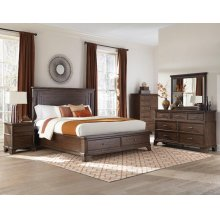 Telluride King-Size Bed Storage Footboard