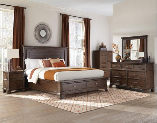 Telluride Queen-Size Bed Storage Footboard