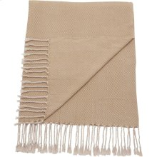 "Throw Sz008 Beige 50"" X 70"" Throw Blankets"