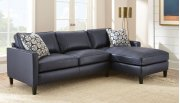 """Alder Right Arm Chaise,Ink Blue 37""""x64""""x36"""" w/one Accent Pillow Product Image"""