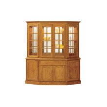 """Shaker Canted Hutch 76"""" Buffet"""