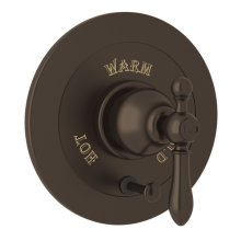 Tuscan Brass Arcana Integrated Volume Control Pressure Balance Trim With Diverter with Arcana Series Only Classic Metal Lever