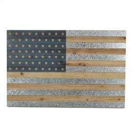 Wood/tin American Flag