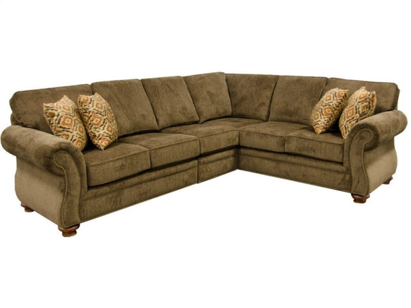 England Living Room Jeremie Sectional With Nails