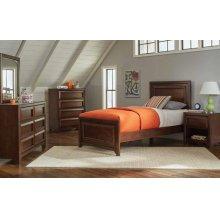 Greenough Transitional Maple Oak Twin Bed