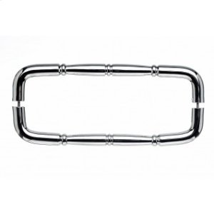 Nouveau Ring Door Pull Back to Back 18 Inch (c-c) - Polished Chrome