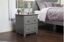 Atlantic 2 Drawer Night Stand in Atlantic Grey