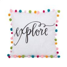 Pet Pom Pom Pillow - 16 x 16
