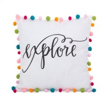 Pet Pom Pom Pillow - 16 x 16