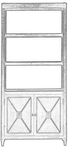 Atlas Bookcase, Whitewash White