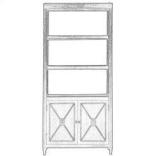 Atlas Bookcase, Whitewash White
