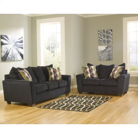 Benchcraft Brogain Living Room Set in Ebony Chenille