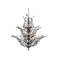 2011 Orchid Collection Large Hanging Fixture Dark Bronze Finish
