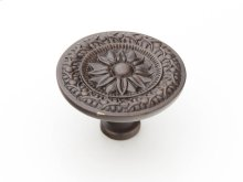 "Solid Brass, Symphony, Eastlake, Round Knob, 1-3/4"" dia, Dark Glaze finish"