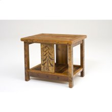 Sequoia Side Table With Shelf Square
